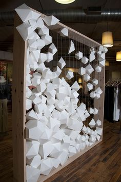 art installation ideas origami art installation sculpture for 2019 Art Origami, Design Display, Visual Display, Design Art, Interior Design, Vitrine Design, Instalation Art, Stage Design, Retail Design