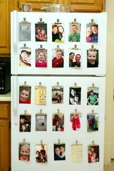 Fridge Makeover Ideas with Family Photos