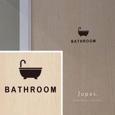 トイレシルエットの切り文字ステッカーです。ミニマルで視覚的にも分かりやすいデザインですので、サインとしての役割をしっかりと果たしてくれます。ご家庭やオフィス・SOHO・店舗のトイレのドアなどに。程よくアピール出来るこのサイズ感が作品のポイントの一つです。主張しすぎないのに、室内が一段とお洒落な印象になり、ちょっとしたアクセントにもなります。そしてシンプルで流行を問わないデザインですので末永くお使い頂けると思います。[サイズ・素材について]デザイン面サイズ:約 横9.6cm × 高8.5cm カラー:黒(ツヤ無し) ご希望により白(ホワイト)もご対応いたします(注文時に備考欄よりお申し付けください)素材:塩化ビニル… Icon Design, Logo Design, Bathroom Signs, Pictogram, Signage, Cross Stitch Patterns, Places, Decor, Infographic