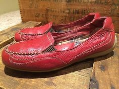 I NEED THESE SHOES! Born Red Leather Loafers Womens 9 38 Shoes Slip On   eBay