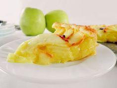 Tarta de manzanas con crema pastelera