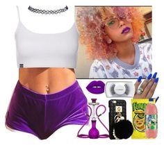 """Goodnight ((Offline)) ~Cece"" by saucinonyou999 ❤ liked on Polyvore featuring Lime Crime, MAC Cosmetics and Wet Seal"