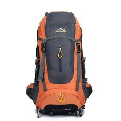2017 High Quality 70L 5 colors large Mountaineering backpack outdoor waterproof backpack travel climbing camping waterproof bag