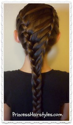 Waterfall twist ladder #braid hairstyle