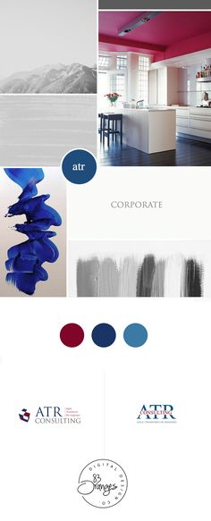 It's always fun working on a mood board when starting to design a brand identity. This one's no exception. I personally love this color combination as I think it generates trust which is what business/finance consulting, banks and other similar businesses primarily want their #logo to reflect. #branding