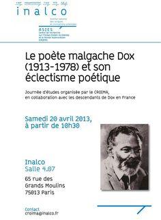 Centenaire de la naissance du poète, écrivain compositeur et peintre malgache DOX