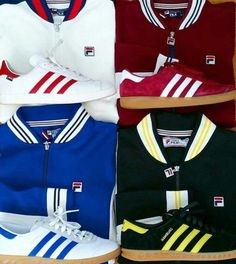 Fila trackie tops and matching 3-Streifen :-)