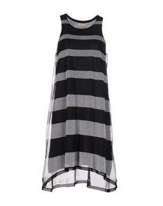 BAND OF OUTSIDERS Knee-length dress. #bandofoutsiders #cloth #dress #top #skirt #pant #coat #jacket #jecket #beachwear #