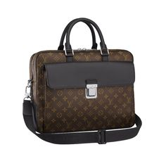 0c1a60624c8a Louis Vuitton M56719 Monogram Macassar Canvas Soft Briefcase