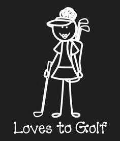 Really cute golf illustration of a lady golfer! #lorisgolfshoppe