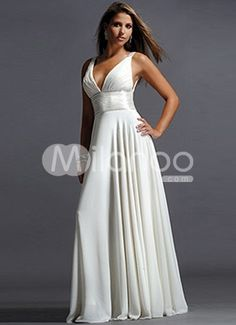 Ivory V-Neck Empire Draped Chiffon Prom Dress With Satin Girdle– Discount Prom Dresses Discount Prom Dresses, Bridal Dresses Online, Evening Dresses For Weddings, Prom Party Dresses, Formal Evening Dresses, Ball Dresses, Ball Gowns, Bridesmaid Dresses, Sequin Bridesmaid