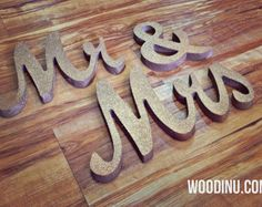 Bought ✔️Gold Glitter Mr & Mrs Wedding Signs Mr and Mrs by WoodinYouSigns