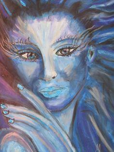 'Lady blue' von mw-art-marion-waschk bei artflakes.com als Poster oder Kunstdruck $16.63