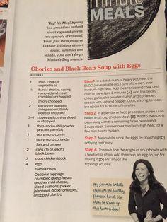 Chorizo and black bean soup