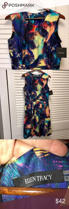 Ellen Tracy Dress, Size 8, Multi Color's This is a Gorgeous Dress by Ellen Tracy. It's a perfect dress for Easter. I'm cleaning out my closet. It's too big for me. Let me know if you have any questions. 💞 Ellen Tracy Dresses Midi