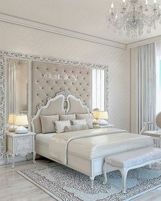 34 Cozy and Romantic Bedroom Decoration Ideas - Schlafzimmer - Bedroom Decor Romantic Bedroom Decor, Cozy Bedroom, Trendy Bedroom, Home Decor Bedroom, Bedroom Ideas, Bedroom Designs, Lux Bedroom, Master Bedrooms, Bedroom Furniture