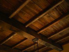 Exposed wood ceiling beams and narrower wood planks at Walnut Wood Floors, Wood Beams, Wood Flooring, Wood Plank Tile, Wood Planks, Barnwood Paneling, Wood Ceilings, Ceiling Beams, Coffered Ceilings