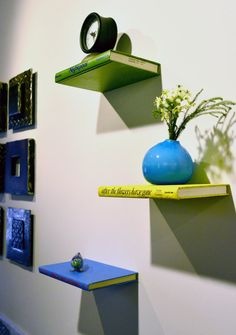 Really cool book shelves from LittleFishFurniture on Etsy