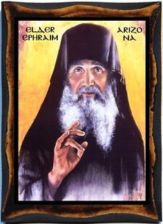 Elder Ephraim of Arizona - Ephraim of Philotheou Handmade Wood, Holy card on plaque. Arizona, Orthodox Christianity, Holy Family, Lord And Savior, Son Of God, Orthodox Icons, First Love, Mona Lisa, Prayers