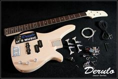 60.00$  Buy now - http://ali69j.worldwells.pw/go.php?t=1328540168 - DIY Electric Bass Guitar Kit  Bolt-On  Solid Mahogany Body MX-030 60.00$