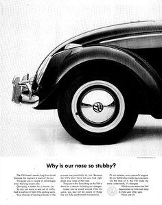 Amazon.com : 1963 VW Beetle Bug-Why is the Nose So Stubby-Original 13.5 * 10.5 Magazine Ad : Classic-Ads