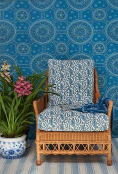 Schuyler Samperton Textile line in blue and white-1