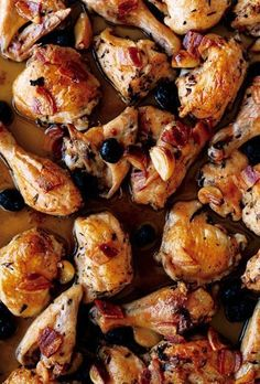 Roast Chicken With Pancetta And Olives Recipe — Dishmaps