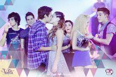 ♥ Final de temporada en el show de fin de ano del studio Vilu y Leon beso #Leonetta ❤