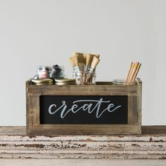 Horizontal Blackboard Crates - Magnolia Market | Chip & Joanna Gaines from our reclaimed old shed wood in Mentone!