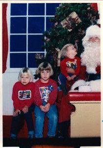 """Stuart """"talking"""" to Santa  Sleigh Me!"""
