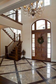 Crystal Lake Waterfront Home Foyer Interior - Bradley Wheeler Architecture & Construction, Inc.