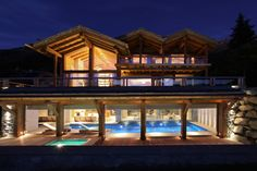 Indulgent pool - what a place to unwind at night!