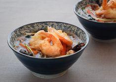 Tempura prawn & miso soup recipe with soba noodles -Bureau of Taste