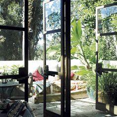 Outdoor terrace | Take a a tour around supermodel Tatjana Patitz's Californian ranch | house tours | housetohome