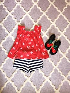 f653866e3c767 Cute outfit for Fourth of July holiday. Toddler Fashion, July Holidays,  Lifestyle Blog