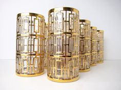 Gold Gilded cocktail glasses