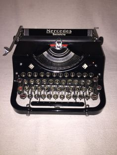 Vintage portable typewriter Mercedes Selekta mechanical typewriter by nostalgiehauscom on Etsy https://www.etsy.com/listing/266536695/vintage-portable-typewriter-mercedes