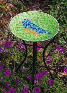Image result for mosaic bird bath