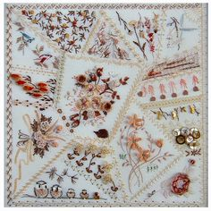 "RosalieWakefield-Millefiori - Design #857 ""Crazy Quilt Pillow"", available at my website www.Millefiori-BE.com"