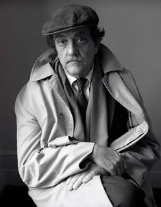 """Dmitri Kasterine  Kurt Vonnegut, London    1981  """"Here we are, trapped in the amber of the moment. There is no why."""" K..."""