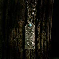 Srebrny Wisior | Turkus | Silver Pendant | Handmade|By Norman Man Jewellery