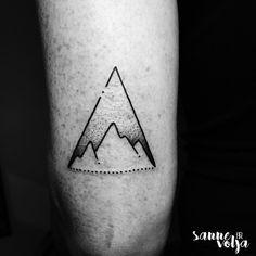 — Thanks Dorien! #mountaintattoo #lines #linework...