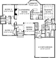 With Views to Rear - 1725LV | Southern, Traditional, Photo Gallery, 1st Floor Master Suite, Bonus Room, Butler Walk-in Pantry, CAD Available, Jack & Jill Bath, PDF, Split Bedrooms, Sloping Lot | Architectural Designs