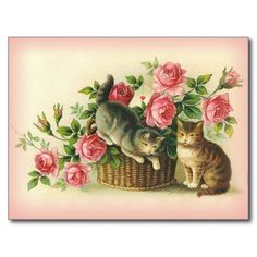 ==> consumer reviews          Vintage Cats/Kittens with Pink Roses Post Card           Vintage Cats/Kittens with Pink Roses Post Card lowest price for you. In addition you can compare price with another store and read helpful reviews. BuyDeals          Vintage Cats/Kittens with Pink Roses P...Cleck Hot Deals >>> http://www.zazzle.com/vintage_cats_kittens_with_pink_roses_post_card-239552781663069415?rf=238627982471231924&zbar=1&tc=terrest
