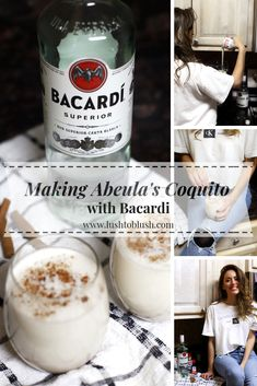 coquito recipe, bacardi coquito, drinks to make with bacardi, holiday drinks, holiday creamy Puerto Rican Coquito Recipe, Coquito Drink, Spanish Coquito Recipe, Best Coquito Recipe, Authentic Coquito Recipe, Nutella Coquito Recipe, Recipes, Christmas Drinks Alcohol, Leche Flan