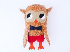 Little shy OWL plush softoy with a bowtie. €39.00, via Etsy.