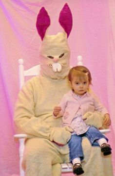 Easter Bunny costume fail - see more: http://www.essentialbaby.com.au/photogallery/life-style/nutrition-and-wellbeing/when-bunnies-go-bad-20120405-1wf81.html