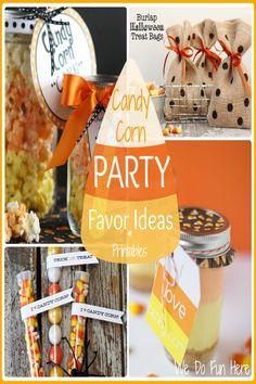 WE DO FUN HERE| Candy Corn Party Favor Ideas & Printables