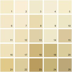 Benjamin Moore Yellow House Paint Colors - Palette 03.1. Windham Cream HC-6 2. San Diego Cream 921 3. Linen Sand 2151-60 4. Woodmont Cream 204 5. Swans Mill Cream 260 6. Ivory Lustre 184 7. Beach Haven 218 8. Bronzed Beige 2151-50 9. Westchester Tan 246 10. Norfolk Cream 261 11. Simply Irresistible 205 12. Philadelphia Cream HC-30 13. Dunmore Cream HC-29 14. Natural Beech 253 15. Amulet AF-365 16. Summer Harvest 206 17. Yellow Bisque 220 18. Mustard Seed 222 19. Westwood Tan 256 20. Adams…