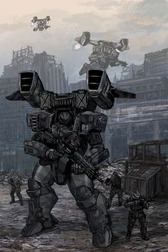 """Featured in the RIFTS Northern Gun 2 sourcebook published by Palladiumbooks Mantis The Mantis dubbed """"robot killer,"""" is an intimidating close combat power armor suit able to stal. Robot Concept Art, Armor Concept, Science Fiction, Gundam, Robot Militar, Rpg Cyberpunk, Futuristic Armour, Arte Robot, Cool Robots"""